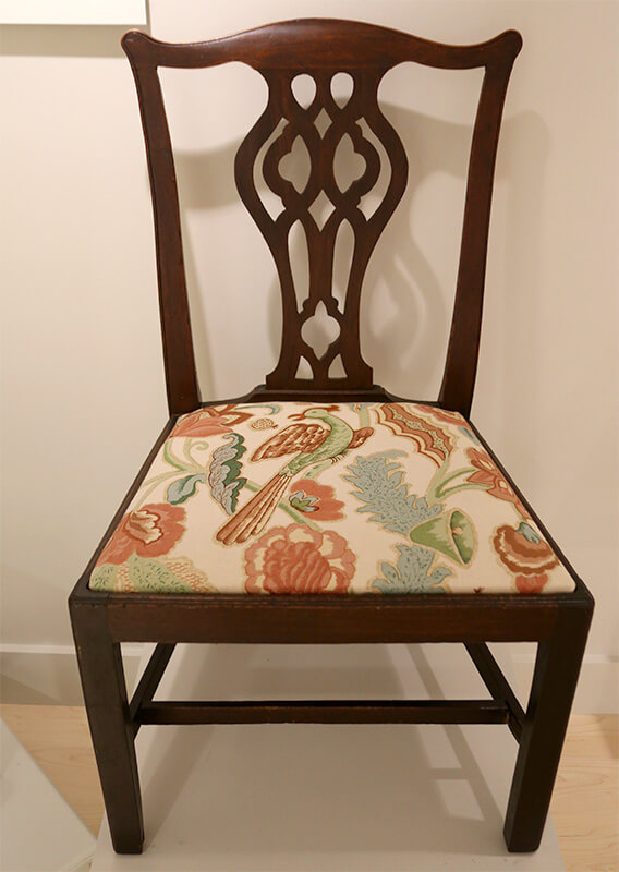 Chippendale Side Chair Carried to Nantucket Aboard the Brig Beaver