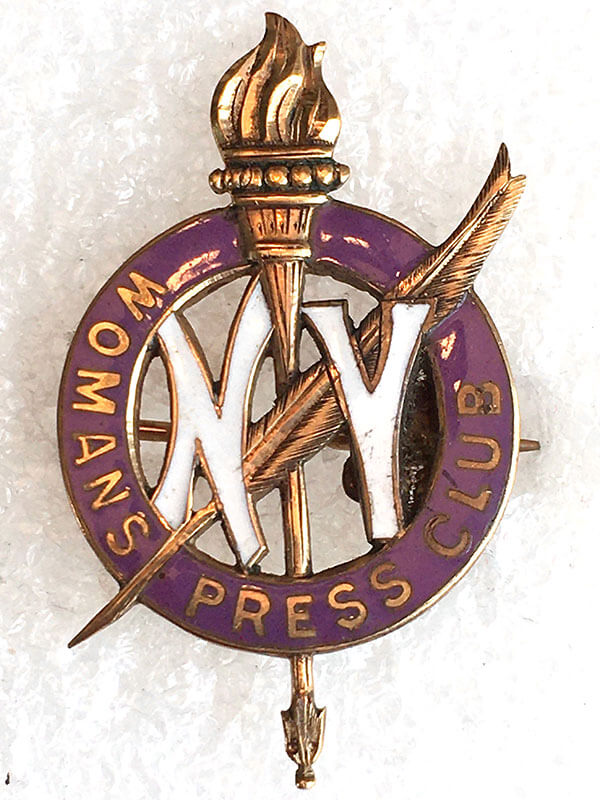 New York City Woman's Press Club Pin