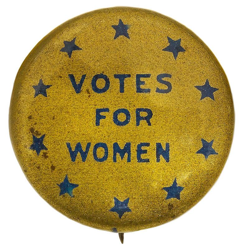 Woman Suffrage Association Pin