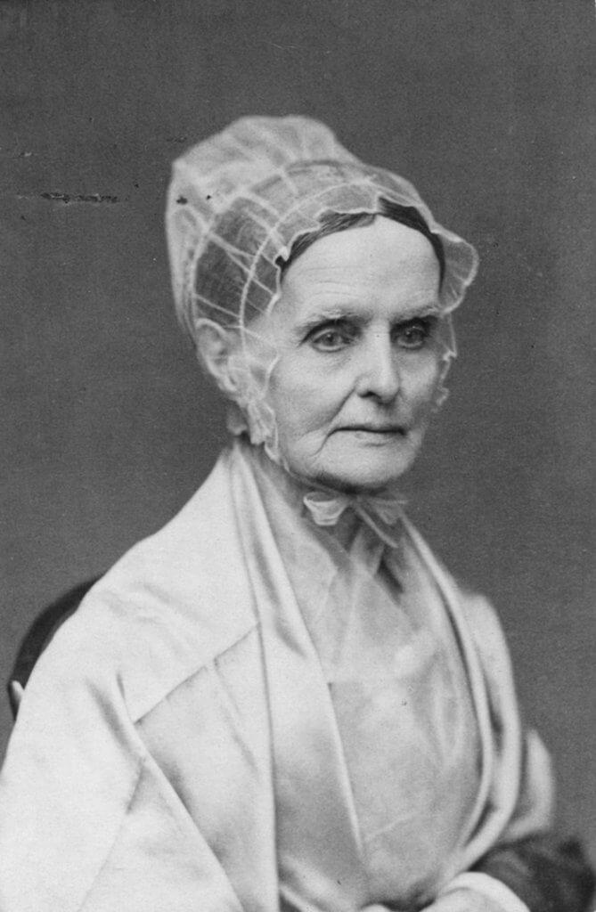 Photograph of women in shawl, Lucretia Coffin Mott.