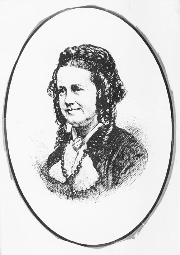 Hand drawn A portrait of Lydia Folger Fowler