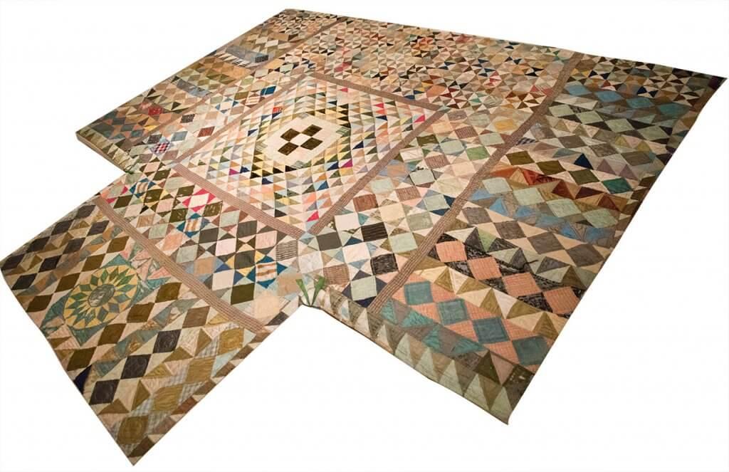 Silk Patchwork Quilt by Lucretia Mott