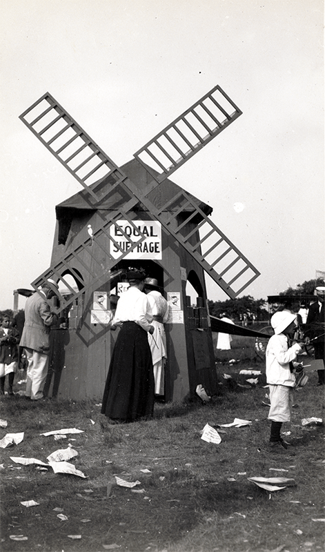 Equal Suffrage Booth at a Fair